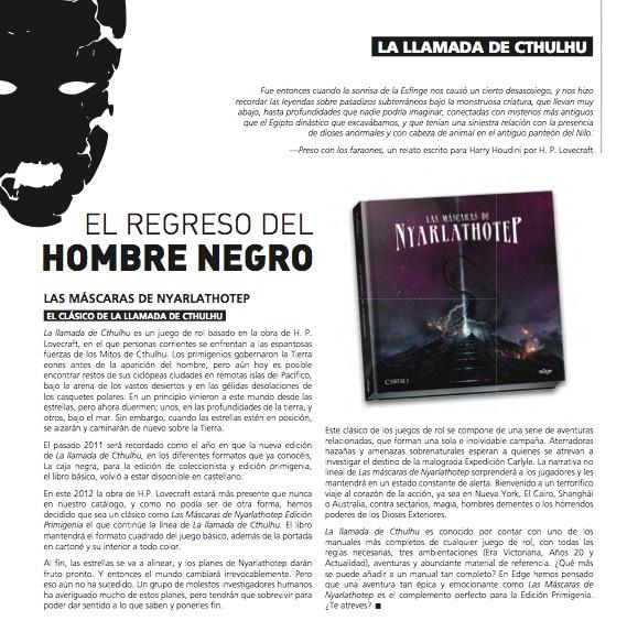 'Habemus' portada de Las Máscaras de Nyarlathotep Edición Primigenia